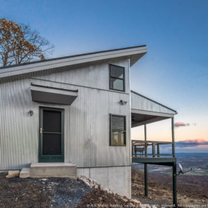 Mountain Top Cabin with ABSeam Matt Black and Corrugated