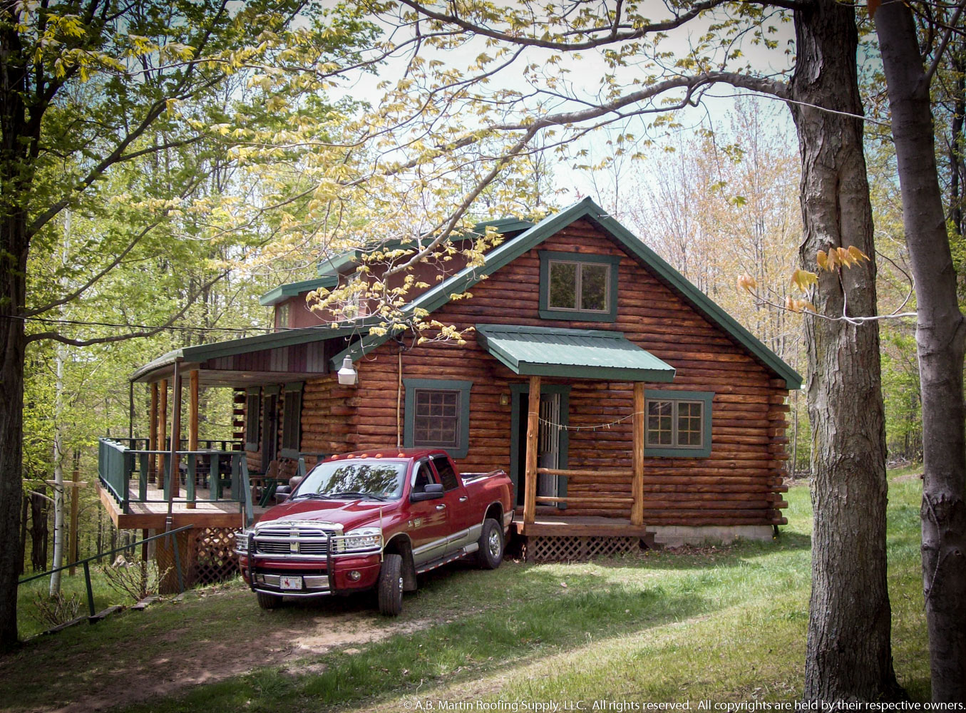 Need a new roof on your cabin a b martin roofing supply Cabins with metal roofs