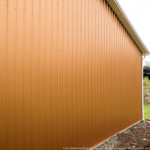 Building Showcase Copper Penny Abm Panel School Pole Barn