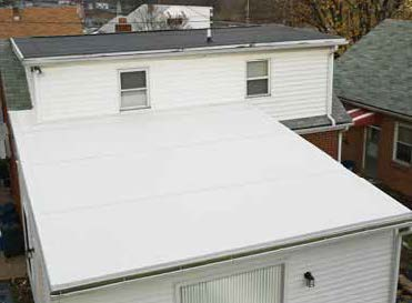 Rubber Roof on house