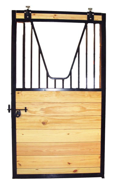 Door with yoke grille