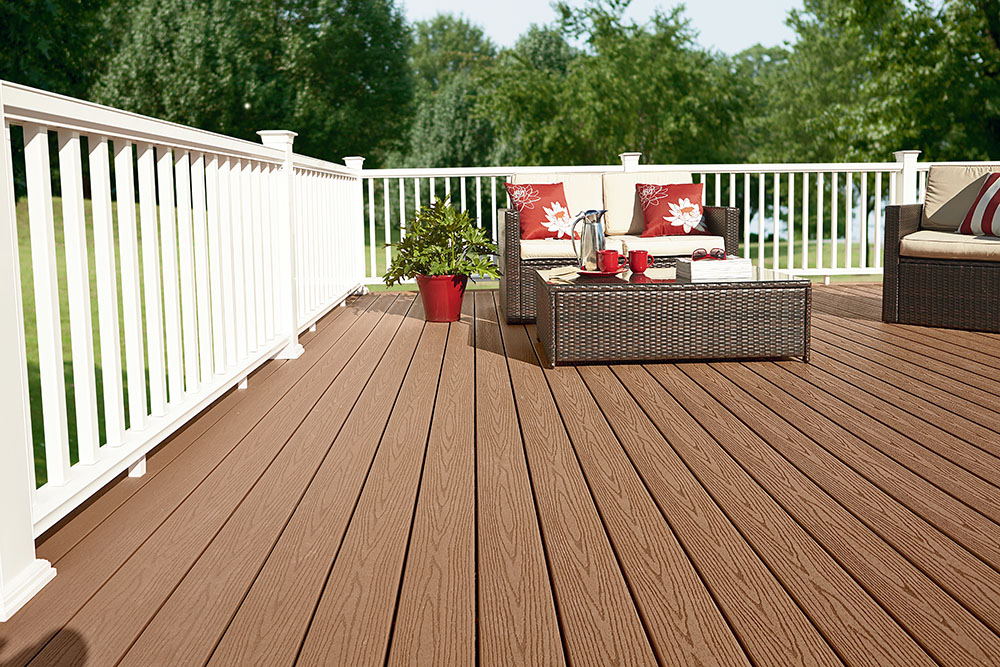 Fiberon decking a b martin roofing supply for Capped composite decking prices