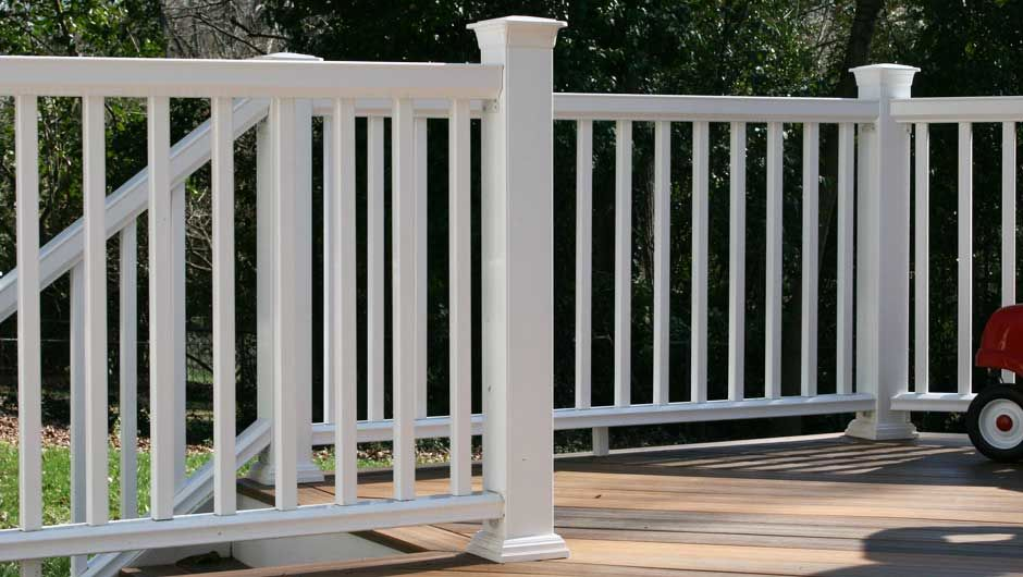 Deck railing a b martin roofing supply for Horizon composite decking