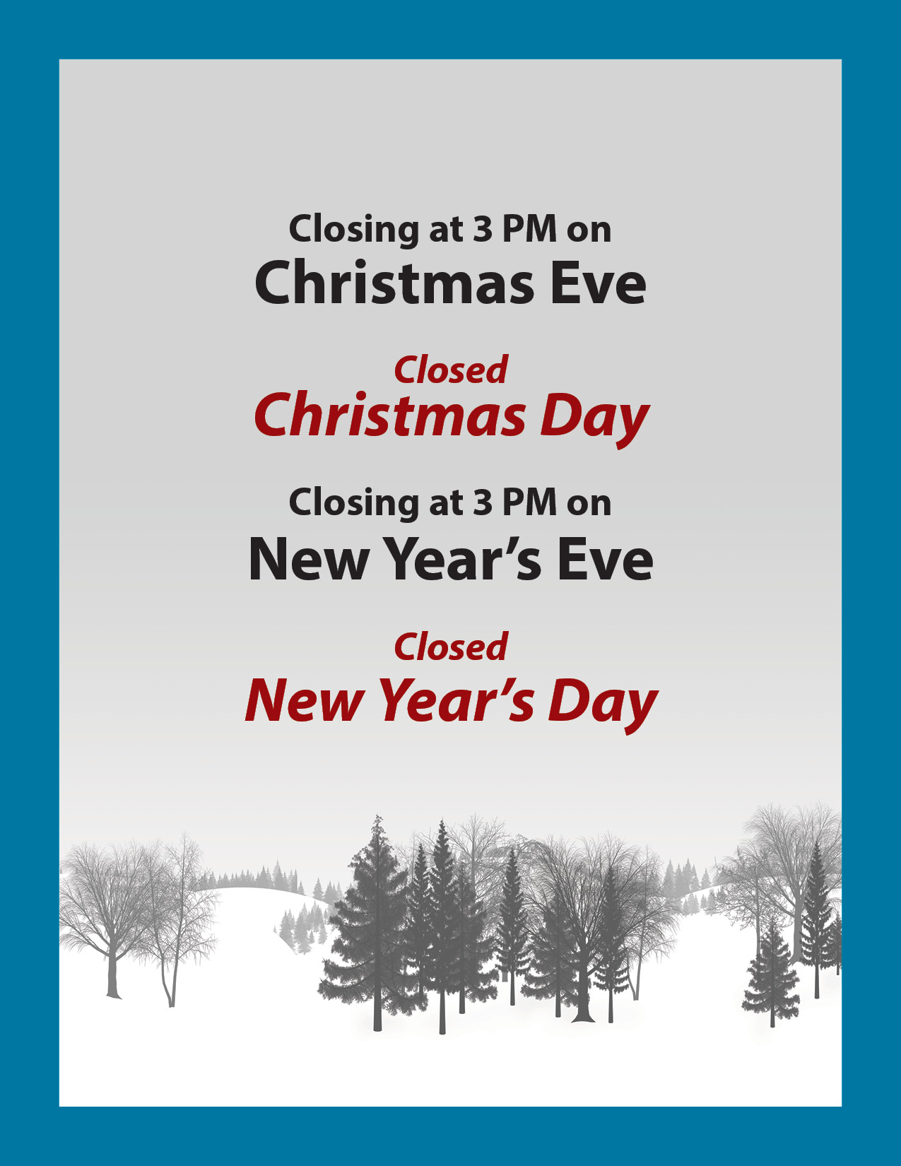 A.B. Martin's Holiday Hours and Closures - A. B. Martin Roofing Supply