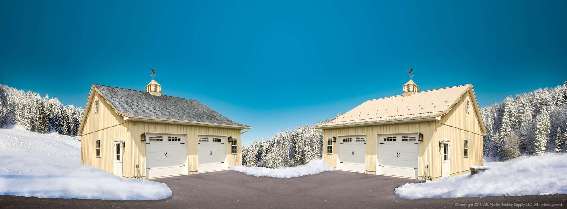 Why You Should Want a Metal Roof in the Winter - A  B