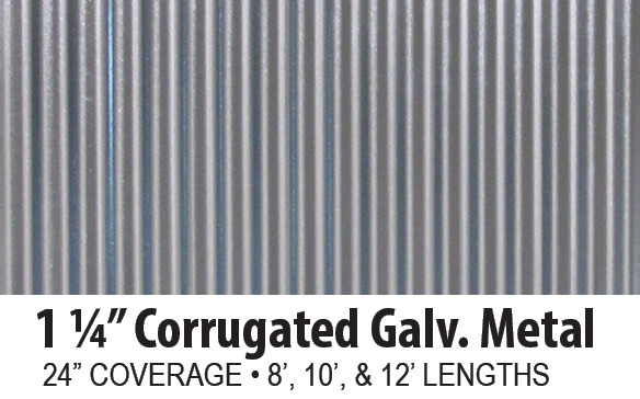 Corrugated Galvanized Steel Panels AB Martin Roofing