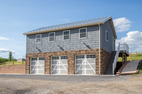 Custom Garage with Vinyl Shake Siding
