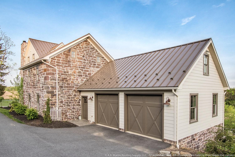 ... Garage With Medium Bronze ABSeam Roof ...