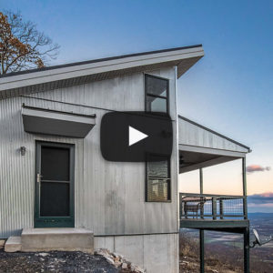 Building Showcase: Mountaintop Cabin with Amazing View and Black Metal Roof