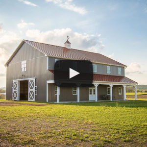 Building Showcase: 2-story Pole Barn with Metal Roof