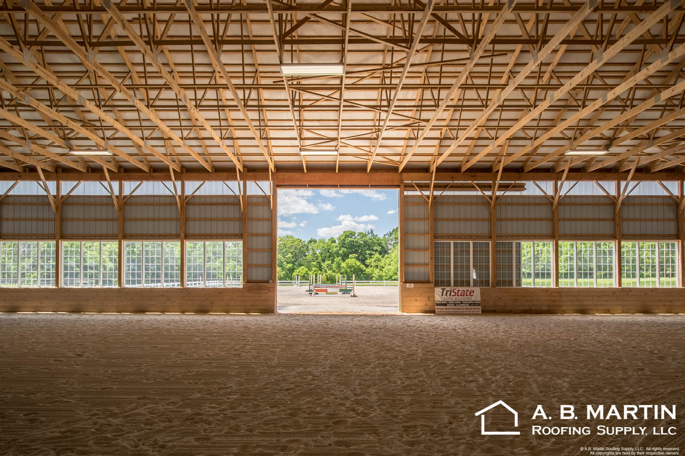 Indoor Riding Arena With Sliding Door