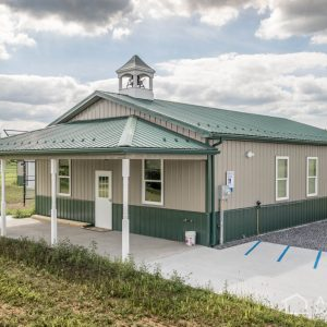 School House with Clay and Evergreen ABM Panel