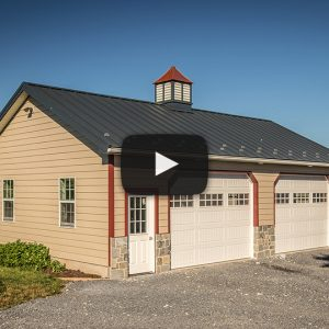 Building Showcase: 2-door Garage with Custom Cupola