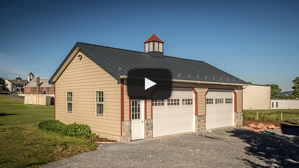Building Showcase: 2-door Garage with Custom Cupola