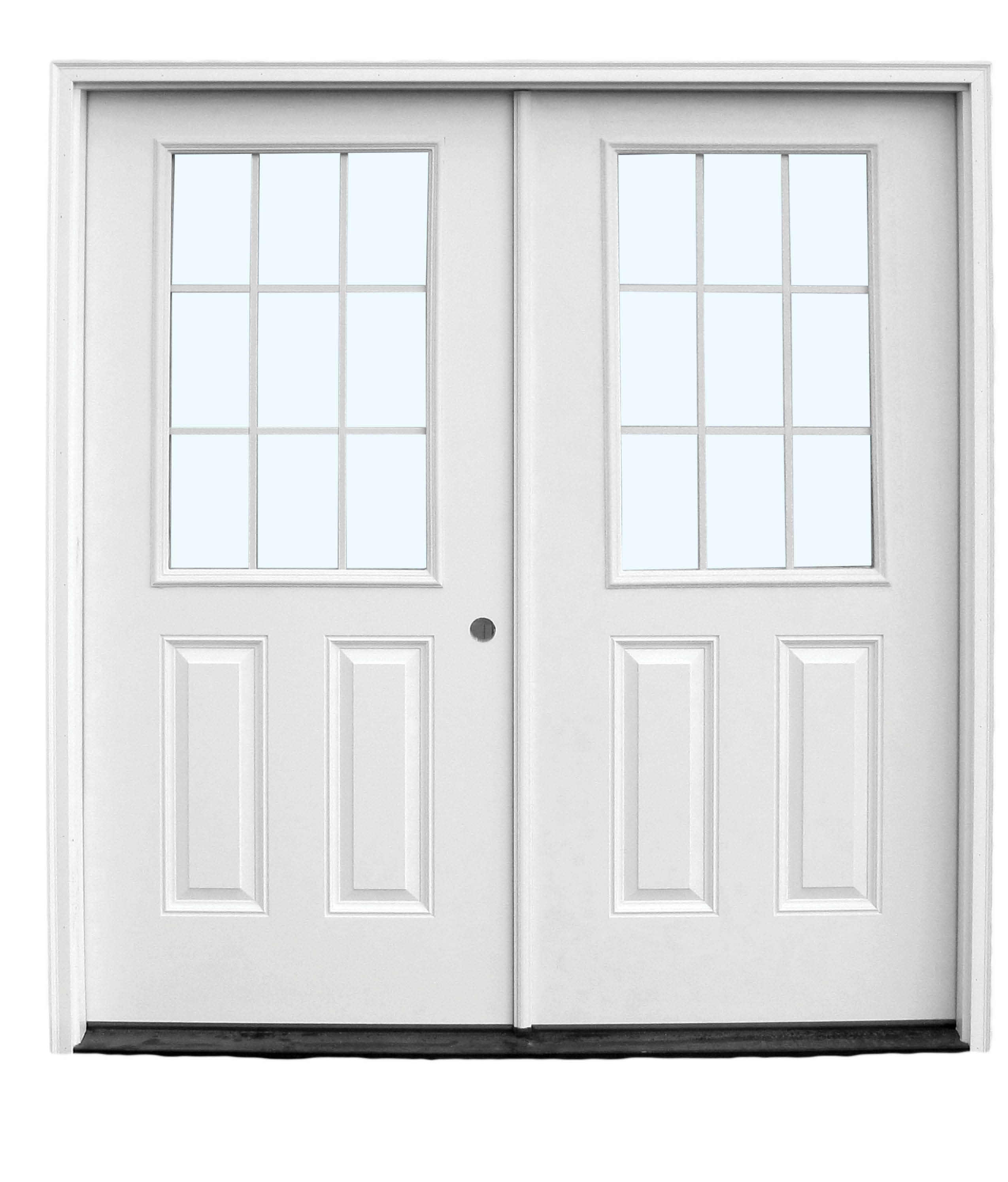 Fiberglass entry doors a b martin building supplies for 9 light exterior door