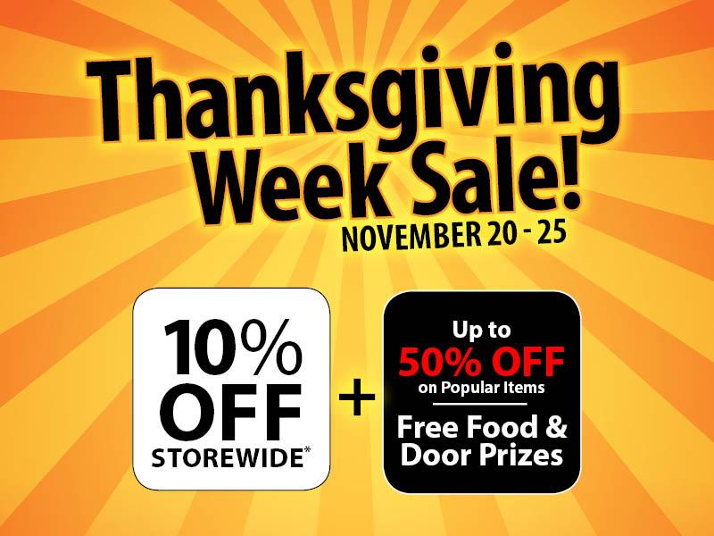 2017 Thanksgiving Week Sale