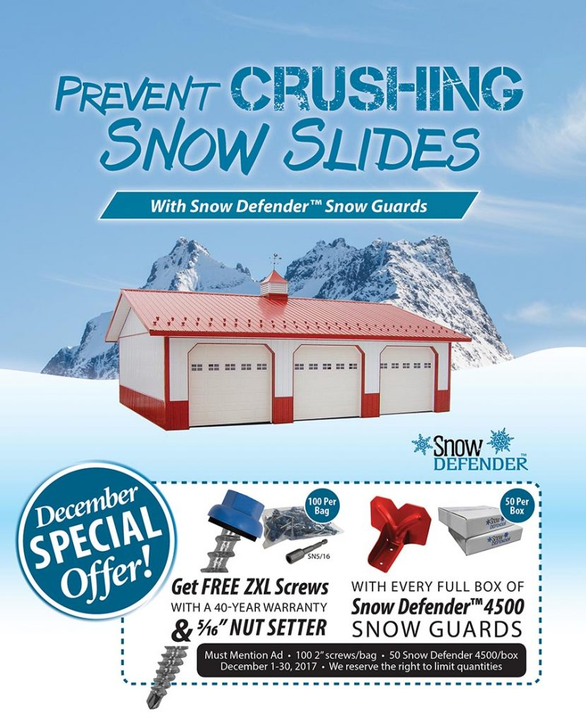 Snow Defender 4500 Snow Guards and FREE Screws – December 2017