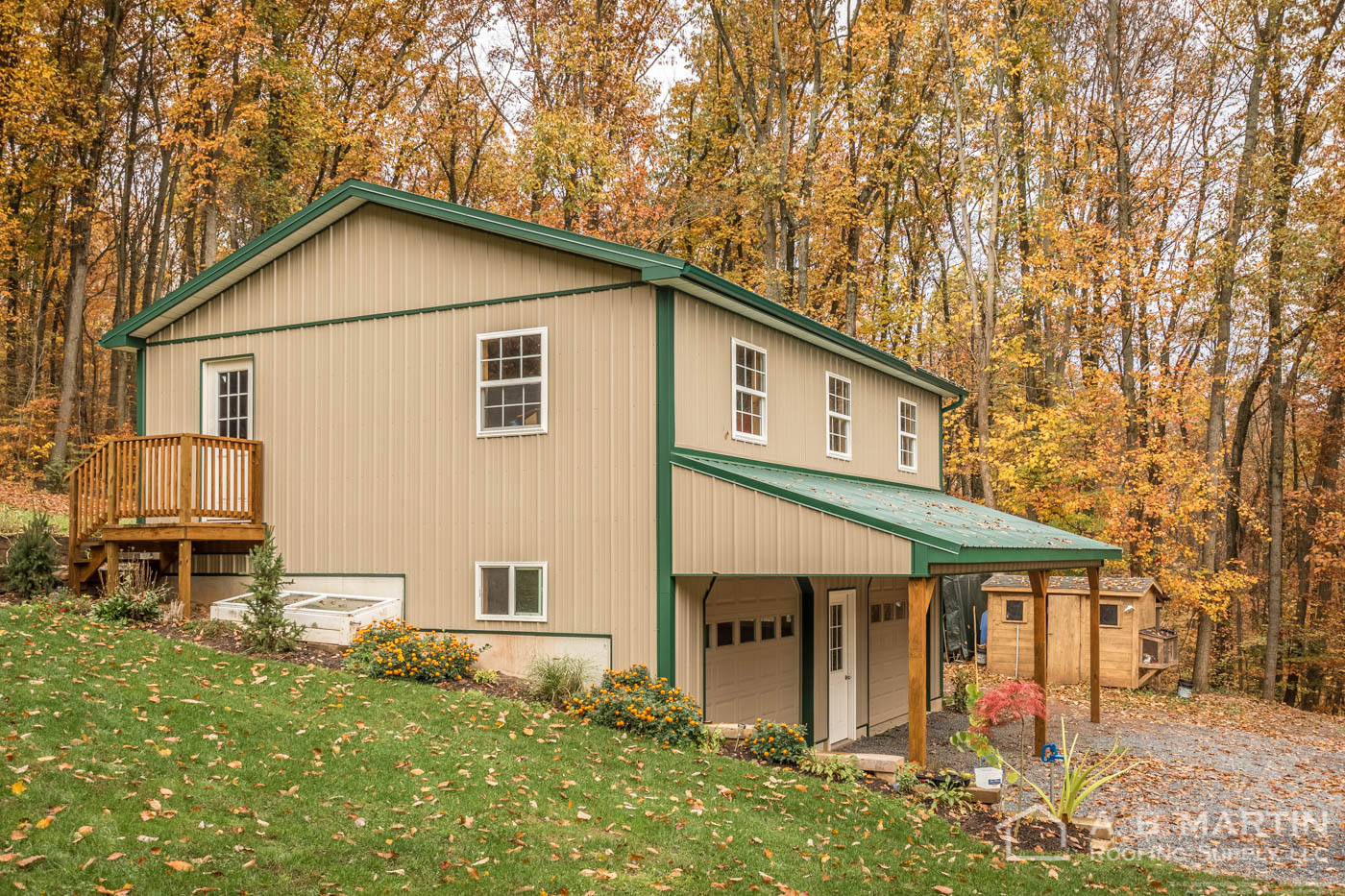 When A Former Builder Builds A 2 Story Garage In The Woods