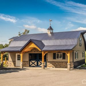 Blue Ridge Stables with Dark Blue ABM Panel