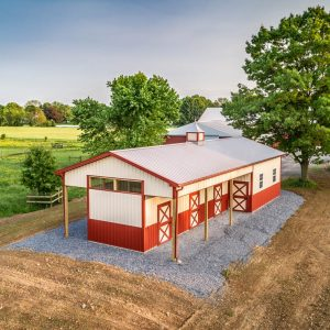 Barn Red and Beige Horse Barn-DJI_0046