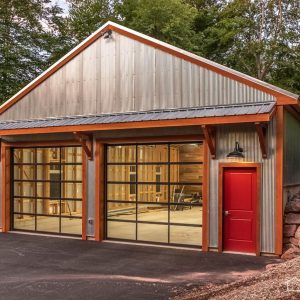 Modern Garage with G-90 Galvanized ABM Panel Roof and 1-1/4 Continuous Corrugated