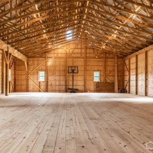 Inside New Bank Barn with ABMartin Lumber
