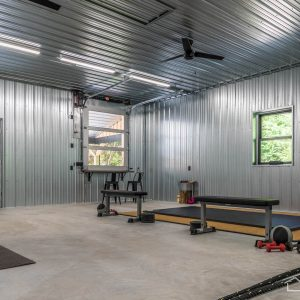 Gym with G-90 Galvanized ABM Panel Ceiling and Walls