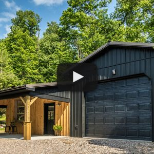 Country Gym in Textured Black, Charcoal, and Galvanized – Building Showcase