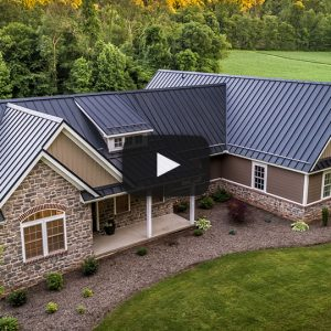 New House with Textured Black ABSeam Roof