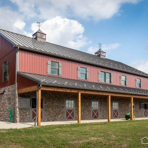 New Bank Barn with Horse Stalls from A.B. Martin