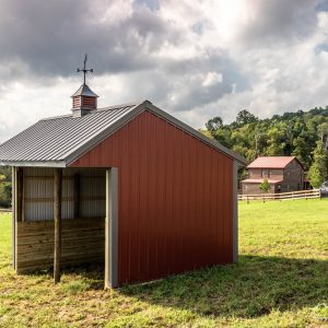 Running Shed with Colonial Red and Ash Gray ABM Panel