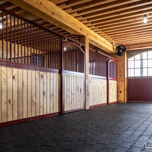 Southern Yellow Pine Horse Stalls from A.B. Martin
