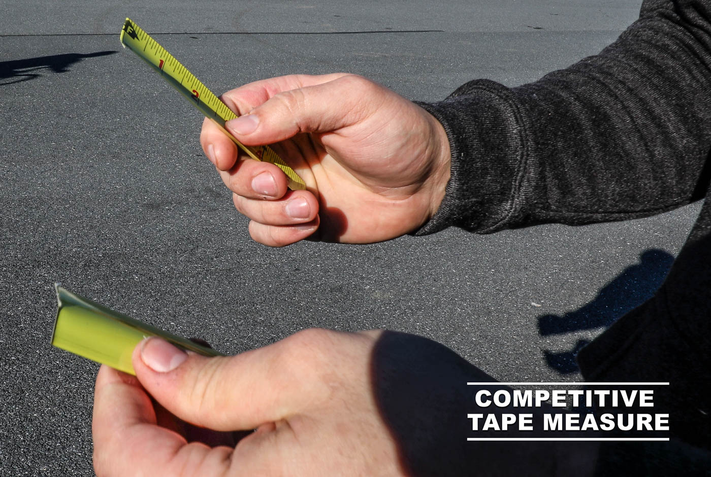 Tape Measure Tears with Fingers