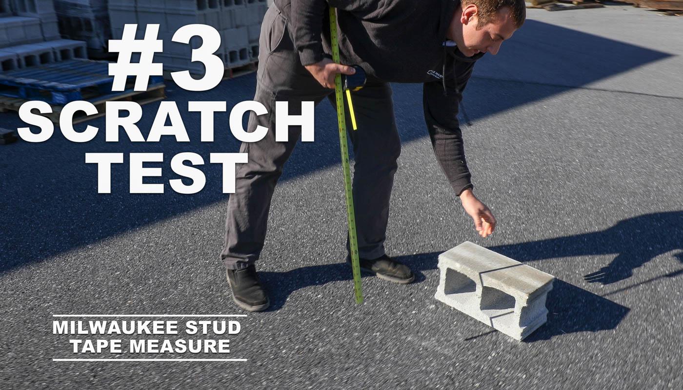 Scratch Test Tape Measures