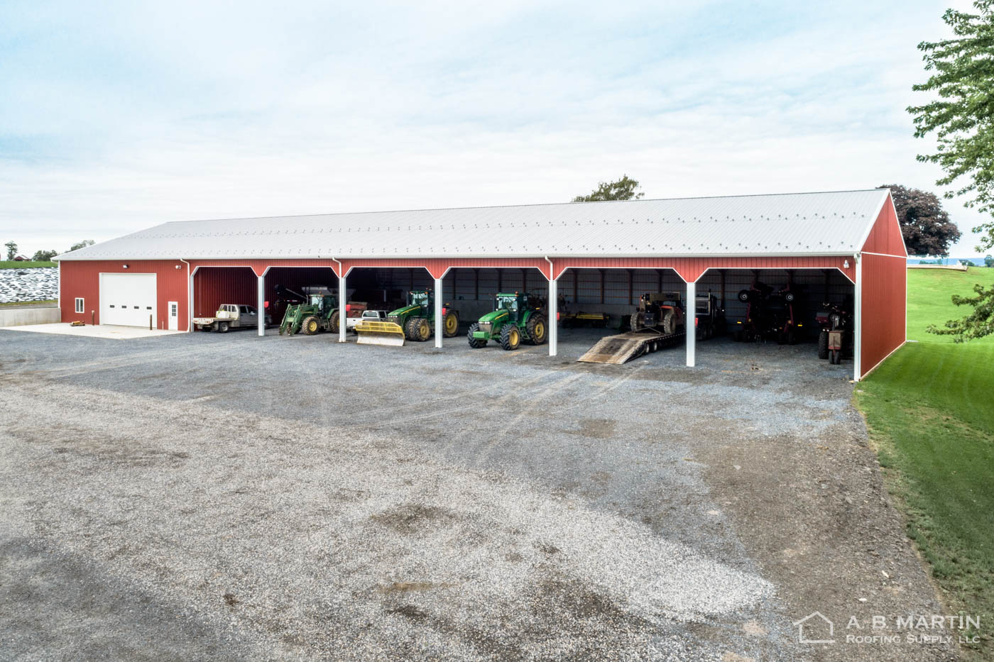 208' Implement Shed in Chambersburg, PA - A  B  Martin Roofing Supply
