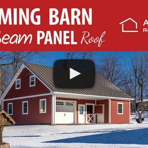 Compact Horse Barn with Celect Siding and a Textured Metal Roof