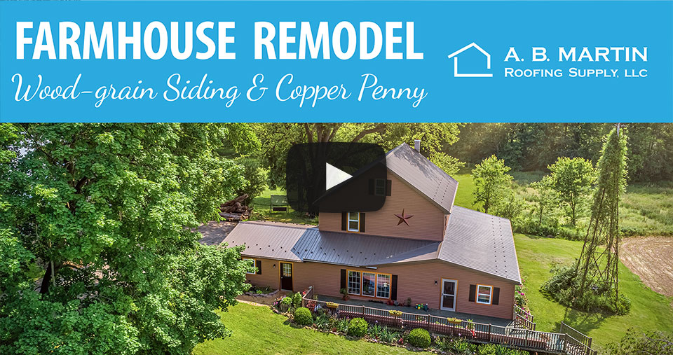 Amazing Farmhouse Remodel with a Bronze Metal Roof and Copper Penny Accents – Building Showcase