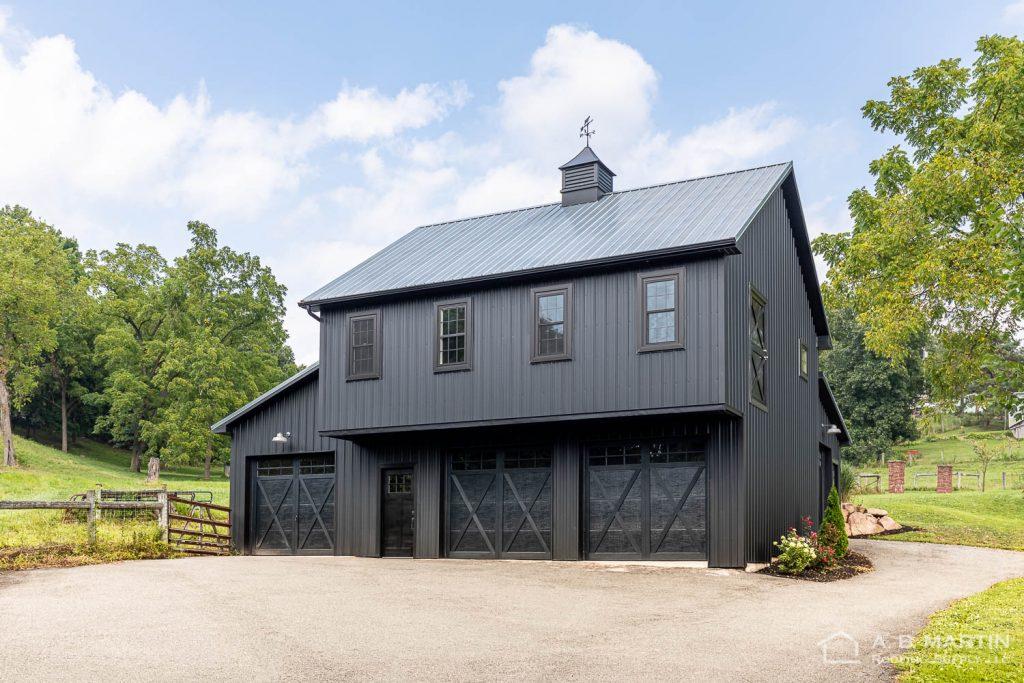 Textured Black Barn