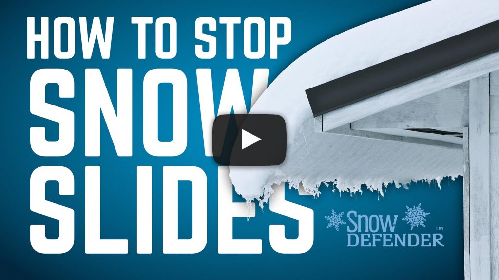 Prevent Crushing Snow Slides from Metal Roofs with Snow Defender Snow Guards