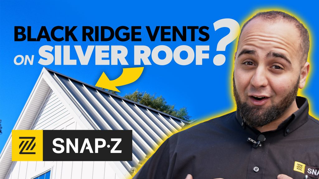 Black Ridge Vents on a Silver Roof?